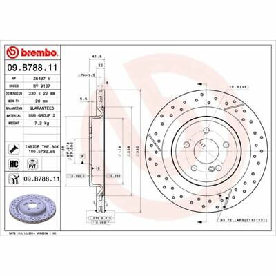 Bremsscheibe COATED DISC LINE BREMBO 09.B788.11