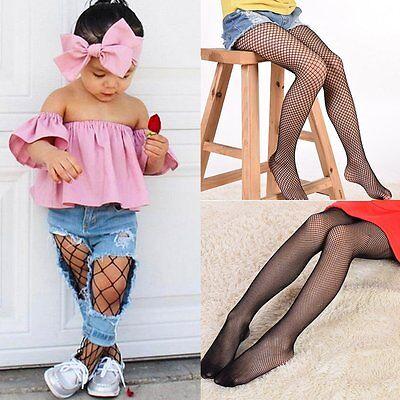 6-10Y Girls Children Mesh Fishnet Net Pattern Pantyhose Tights Stockings - Fishnet Stockings Girls