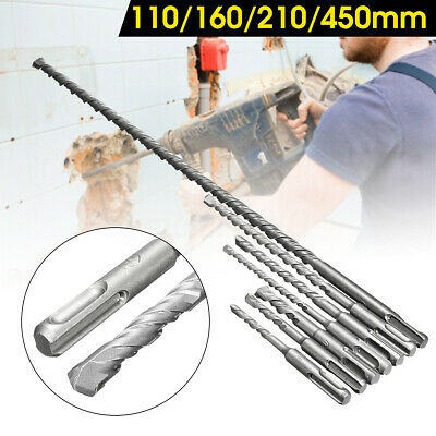 7pcs Sds Plus Rotary Hammer Drill Bits Chisel Concrete Masonry Hole Tool Set A