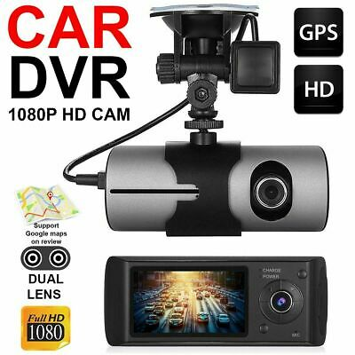 2.7'' Dual Lens GPS Car DVR 1080P Dash Cam Video Recorder G-sensor Night Vision
