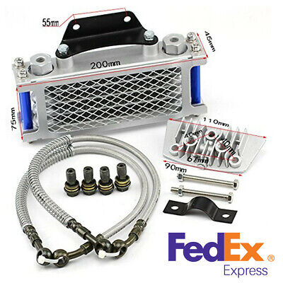 Blue Aluminum Oil Cooler Radiator For 50-110CC Dirt Pit Bike Racing Motorcycle