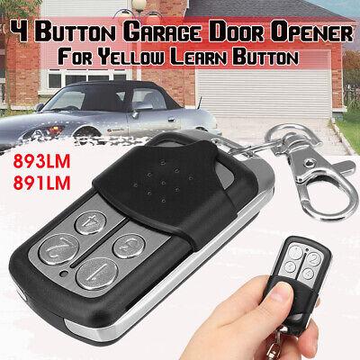 4 Button Garage Door Opener Remote Compatible Security + 2.0 MyQ 891LM 893LM Security Garage Door Opener