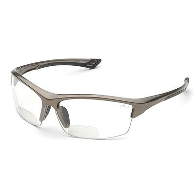 Elvex Bifocal Safety Glasses With 1.5 Clear Anti-fog Lens Bronze Frame