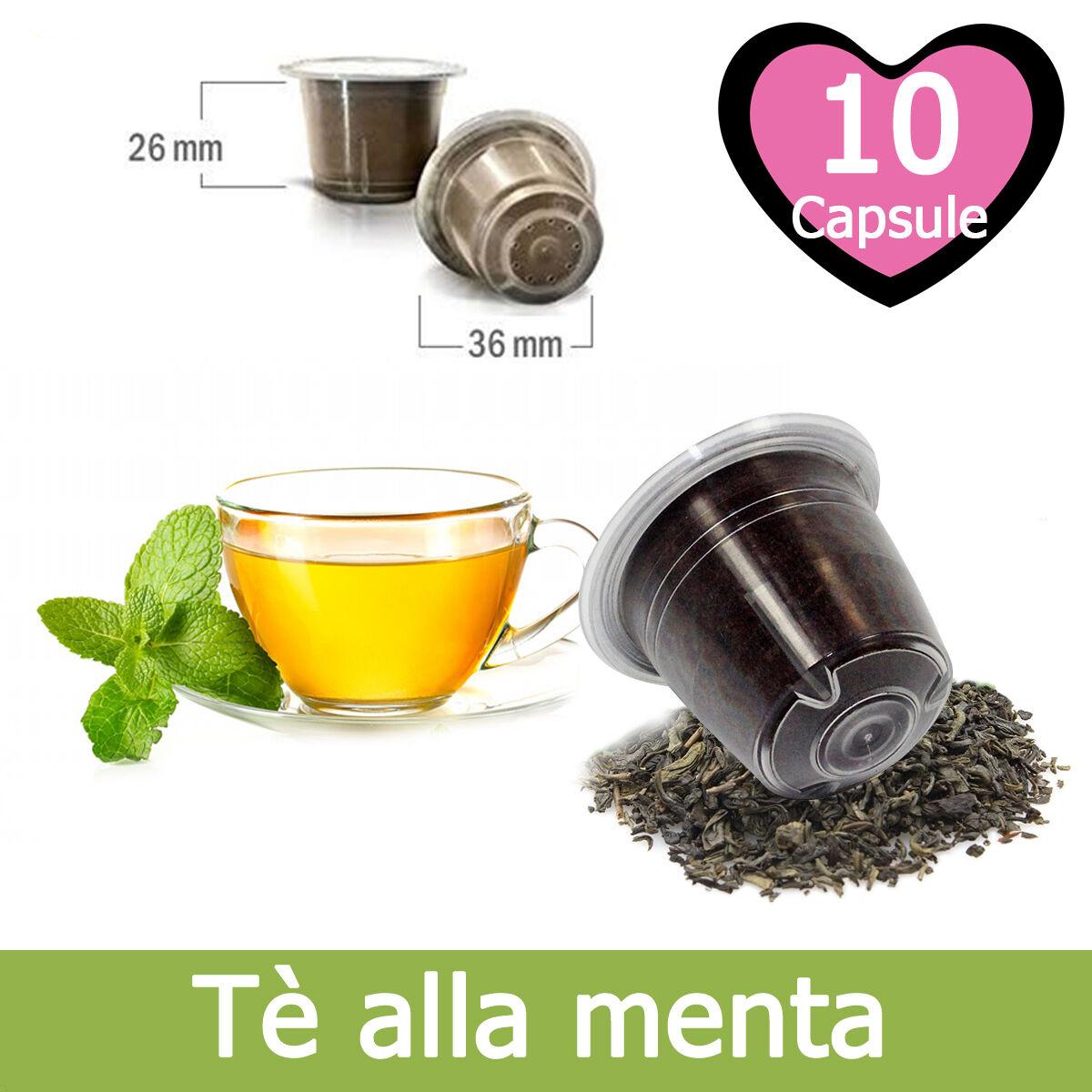 10 Capsule Caffè Kickkick Tè alla Menta Cialde Compatibili NESPRESSO