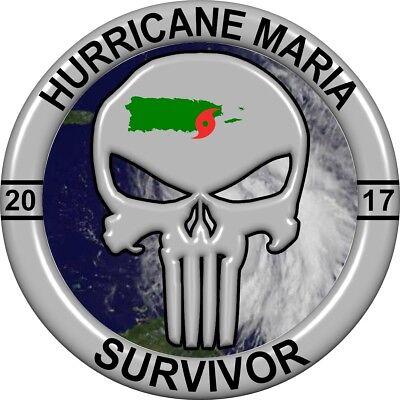 Hurricane Maria Survivor 2017 Sticker  Decal  Puerto Rico  Weather  Truck Window