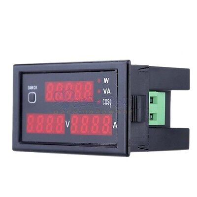 Ac 80-300v Lcd Digital Voltmeter Ammeter Power Panel Meter 100a Dl69-2048