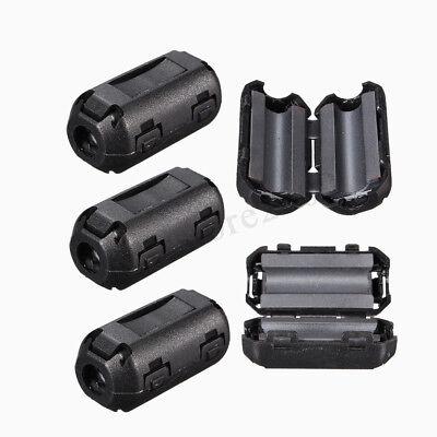 5pcs 5mm Clip-on Noise Ferrite Core Ring Bead Filter Rfi Emi Cable Clip