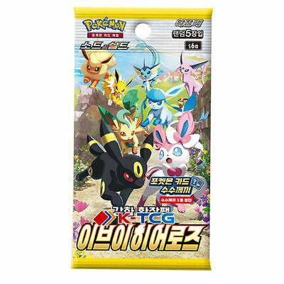 """Pokemon Sword & Shield Booster Pack """"Eevee Heroes"""" s6a Factory SELAED"""