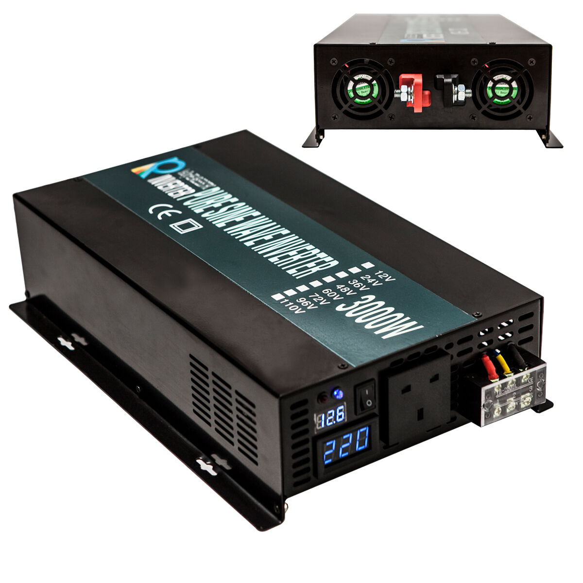 3000w Pure Sine Wave Inverter 12v 24 48v To 240v Car Power