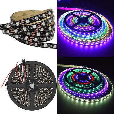Black PCB 5M 5050 SMD WS2811 RGB Dream Color 300 LED Strip Light Waterproof 60/M - Black Lights Christmas Lights