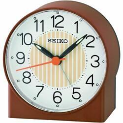 Seiko Alarm Tabletop Clock Asami Brown Quartz QHE136BLH