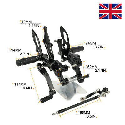 CNC ADJUSTABLE REARSETS FOOTRESTS FOOT PEGS FOR <em>YAMAHA</em> FZ1FZ1 FAZER 2