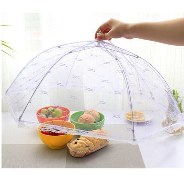 Food Cover Tent Umbrella Collapsible Covers Lace Mesh Net Anti-Mosquito Tools