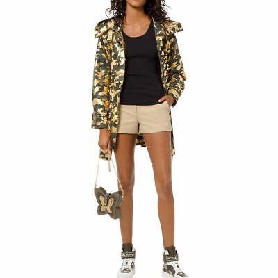 MICHAEL MICHAEL KORS Women's Foil-print Camouflage Anorak Jacket Top TEDO