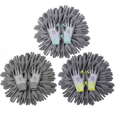 24 Paar Mechanikerhandschuhe PU Garten Montagehandschuhe Arbeitshandschuhe M-XL