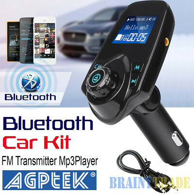 Bluetooth Car FM Transmitter AUX Wireless Radio Adapter USB Charger Mp3 Player