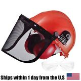 Chain Saw Safety Helmet System Hard Hat Ear Muffs Shield Glasses For Stihl