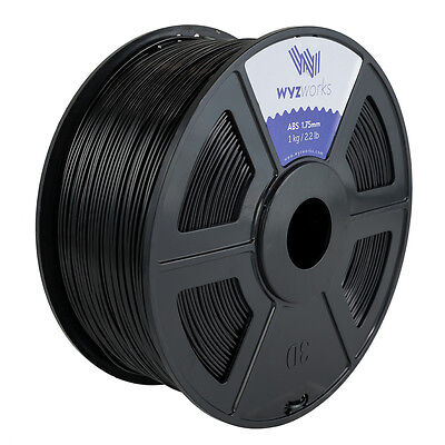 Wyzwork 3d Printer Premium Abs Filament 1.75mm 1kg2.2lb - Black
