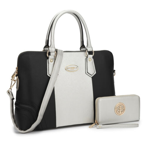 Dasein Women Handbag Briefcase Business Satchel w/ Bag Purse