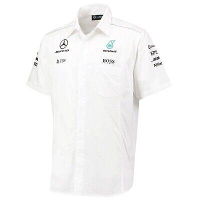 SHIRT Mercedes AMG Petronas Hamilton Men Teamshirt Formula One 1 F1 New WHT