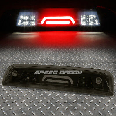 FOR 2014-2018 CHEVY SILVERADO BLACK SMOKED THIRD 3RD BRAKE LIGHT LAMP 3D LED BAR