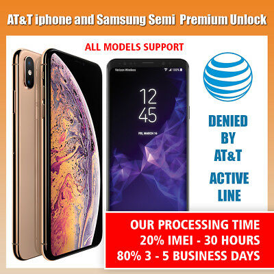 SEMI PREMIUM AT&T Factory Unlock Code Service for iPhone 4 4s 5 5S 6 6s 7 8 SE X for sale  Shipping to Canada