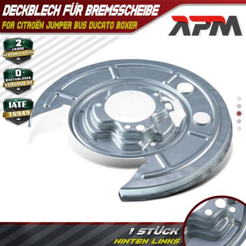 2x Spritzblech Abdeckblech Ankerplatte Bremse hinten L//R für FIAT DUCATO 3 III