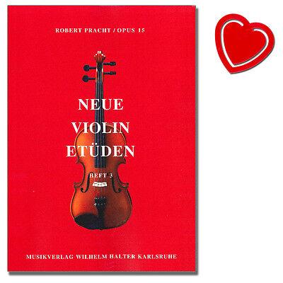 Neue Violin Etüden Heft 3 op. 15 - Robert Pracht - HAL342 - 9990050159678