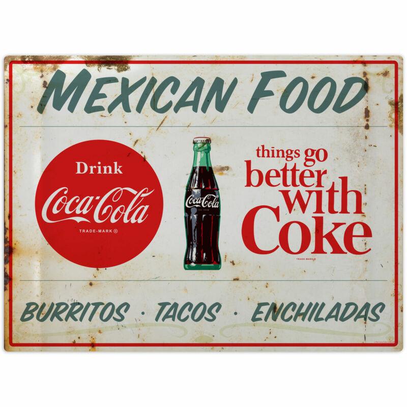 Coca-Cola Mexican Food Burritos Wall Decal 24 x 18 Distressed