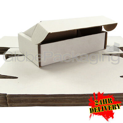 20 x White Postal Mailing Gift Shipping Cartons Boxes 200x120x50mm (8x5x2