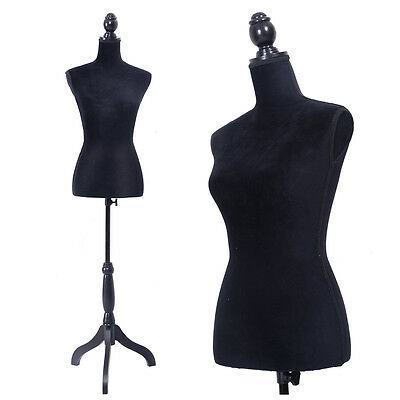 Black Female Mannequin Torso Clothing Display Wblack Tripod Stand New