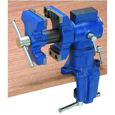 Tough Cast Iron Metal Wood Clamping Table Swivel Vise 2-12 Tool Brand New