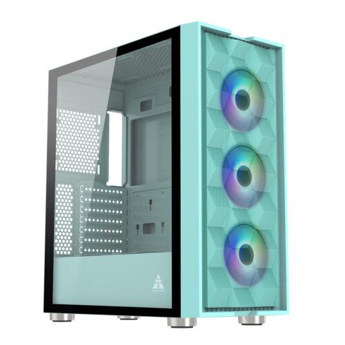 P2W ATX//Micro ATX//ITX Computer PC Gaming Case Boitier PC Gamer Verre Tremp/é Moyen Tour Blanc GOLDEN FIELD