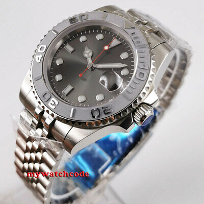 40mm Bliger sterile gray dial sapphire glass Jubilee strap automatic mens watch