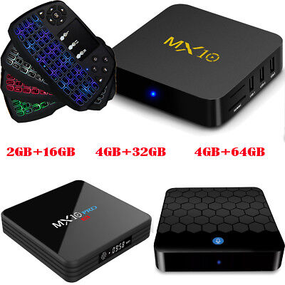 Android 7 1 Smart set top TV Box Quad core WIFI BT4 1 4K Media Player +  Keyboard