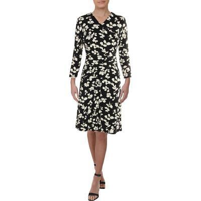 Lauren Ralph Lauren Womens Finchlina Floral Ruched Wear to Work Dress BHFO 0924
