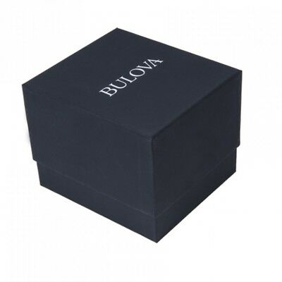 Bulova Women's 97L159 Quartz Gold-Tone Case Black Leather Strap 32mm Watch
