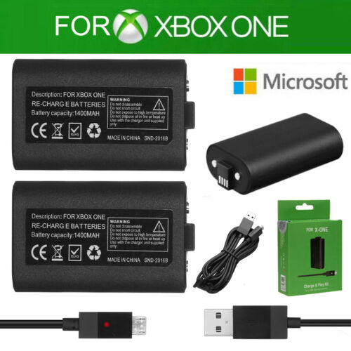 For Xbox One X Controller Play Charging Charger Cable Rechargeable Battery Pack