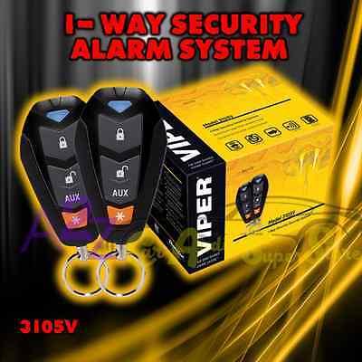 VIPER 350 PLUS 1-WAY CAR ALARM VEHICLE SECURITY SYSTEM KEYLESS ENTRY 3105V
