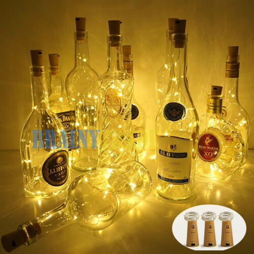 3pcs Wine Bottle Cork Lights Copper Led Light Strips Rope La