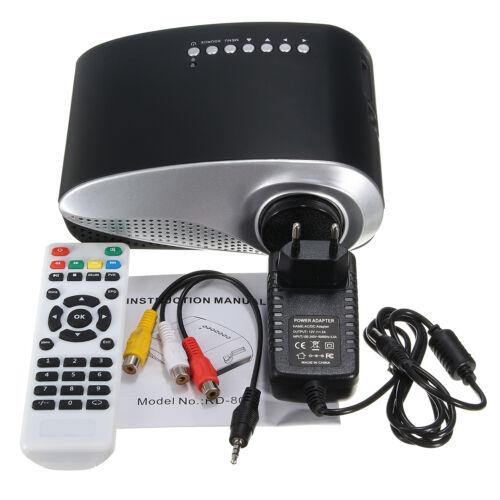 Mini 1080P LCD LED Projector Multimedia Home Cinema Theater TV AV USB VGA HDMI