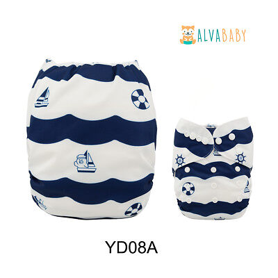 ALVABABY Cloth Diapers One Size Reusable Washable Best Pocket Nappies + Insert
