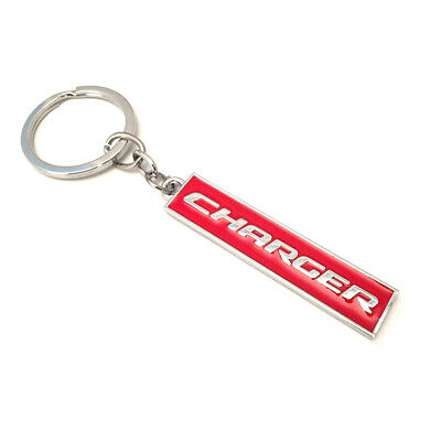 Red CHARGER Letters Car Key Ring Key Chain for Charger SXT R/T SRT Hellcat