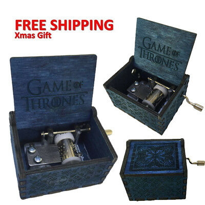Game Of Thrones New Engraved Wooden Music Box Interesting Kid Toys Xmas Gifts