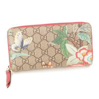Auth Gucci Tian Zip Around Wallet Wallet 424893 Beige (86324