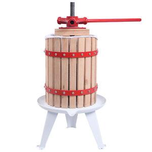 New 1.6 Gallon Fruit Wine Press Cider Apple Grape Crusher Juice Maker Tool Wood
