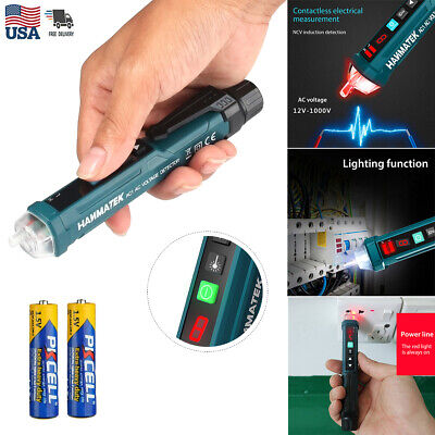 Digital Led Ac Electric Voltage Detector Sensor Non-contact Tester Pen 12-1000v
