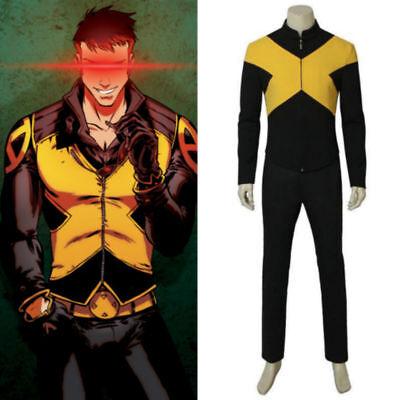 New X-Men Dark Phoenix Cyclops Scott Summers uniform Cosplay Costume custom FF (New X-men Costumes)