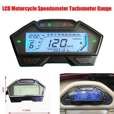 13000RPM Motorcycle Odometer Speedometer Tachometer Water Temp Gauge with Sensor