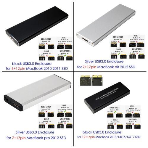 USB3.0 SSD Enclosure for MacBook Air Pro 2010/11/12/13/14/15/16/17 Original SSD